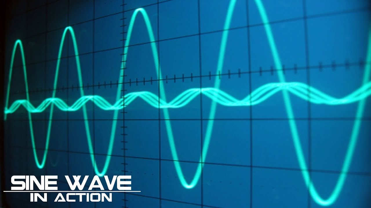 Sine Wave on an Oscilloscope